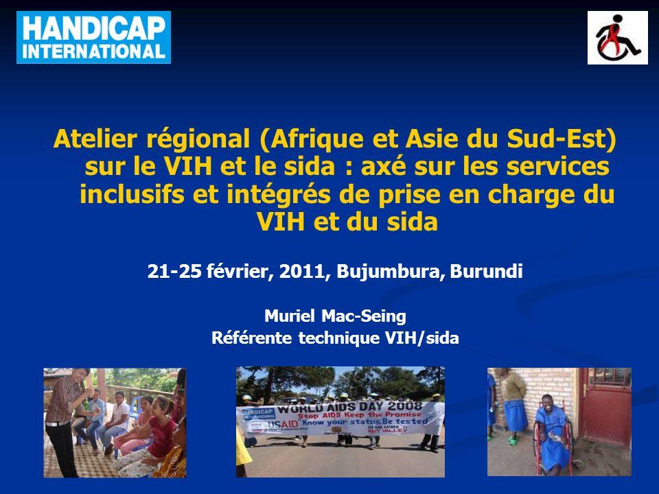 21-25 février, 2011, Bujumbura, Burundi Référente technique VIH/sida