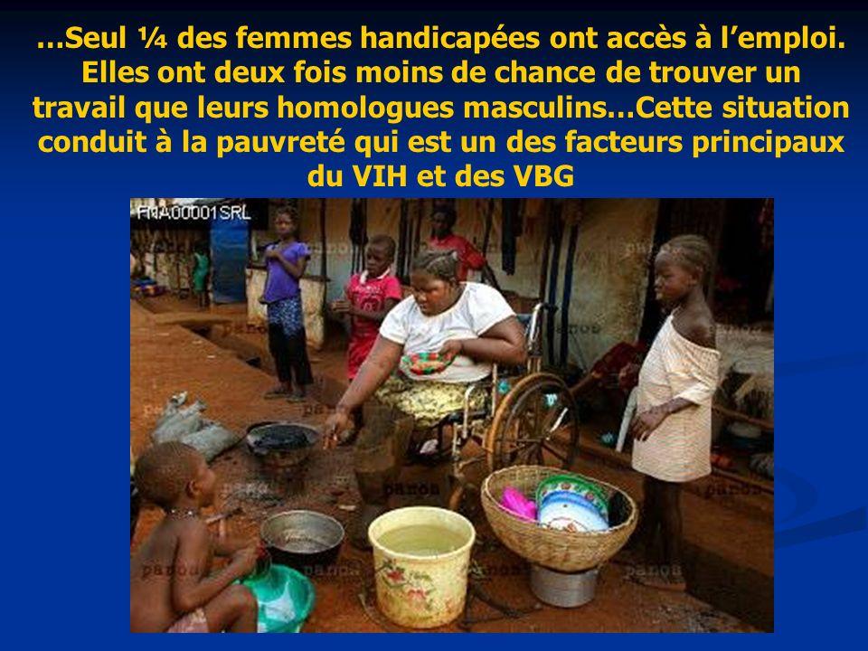 …Seul ¼ des femmes handicapées ont accès à l'emploi