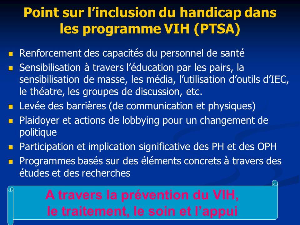 Point sur l'inclusion du handicap dans les programme VIH (PTSA)