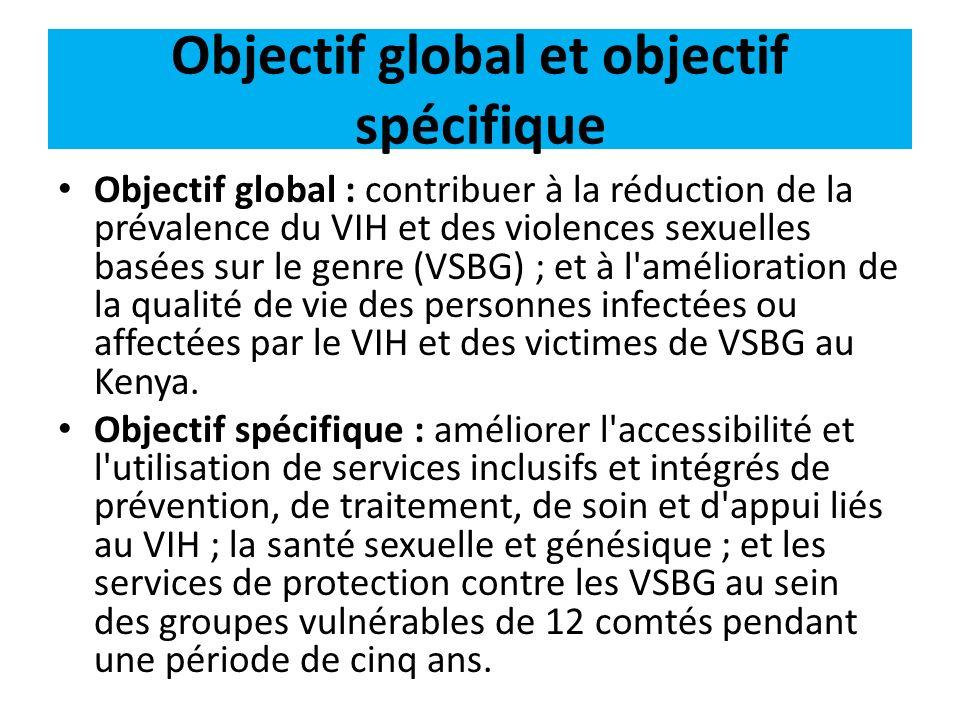 Objectif global et objectif spécifique