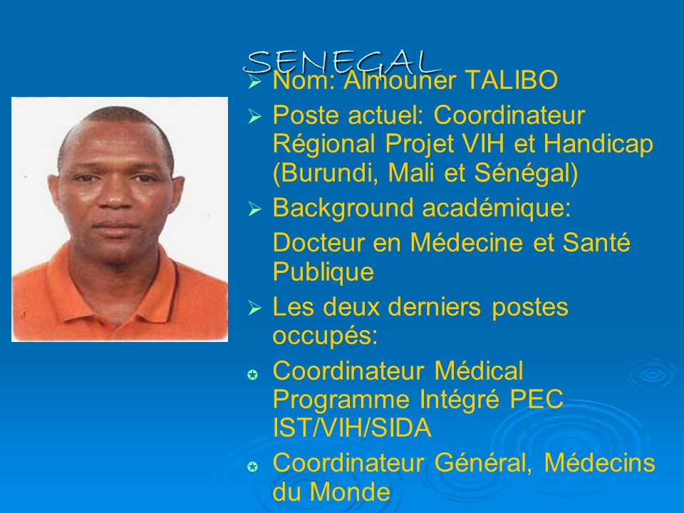 SENEGAL Nom: Almouner TALIBO