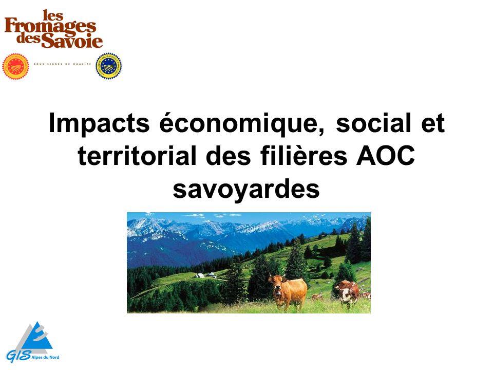 Impacts économique, social et territorial des filières AOC savoyardes