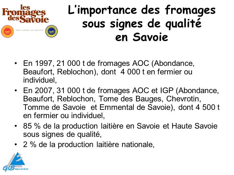 L'importance des fromages sous signes de qualité en Savoie