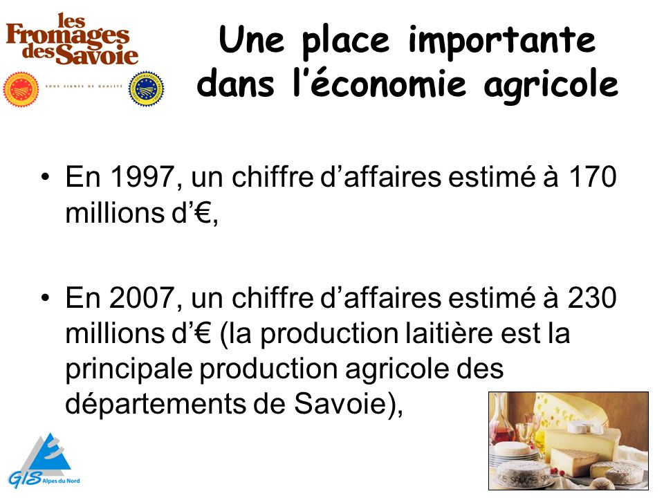 Une place importante dans l'économie agricole
