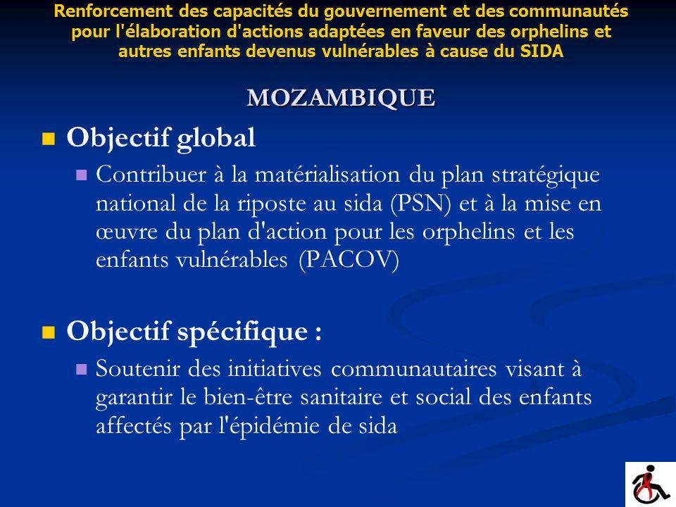 Objectif global Objectif spécifique :