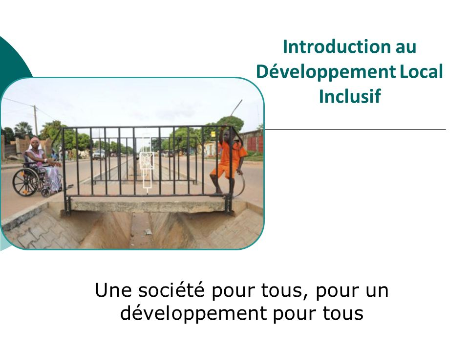 Introduction au Développement Local Inclusif