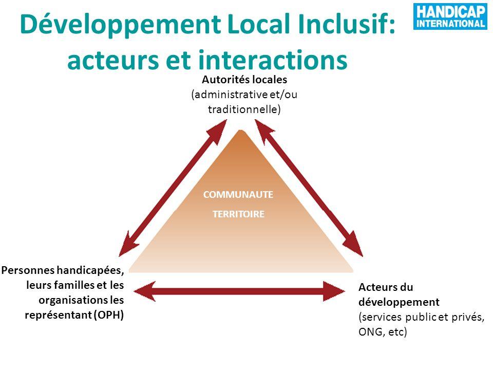 Développement Local Inclusif: acteurs et interactions