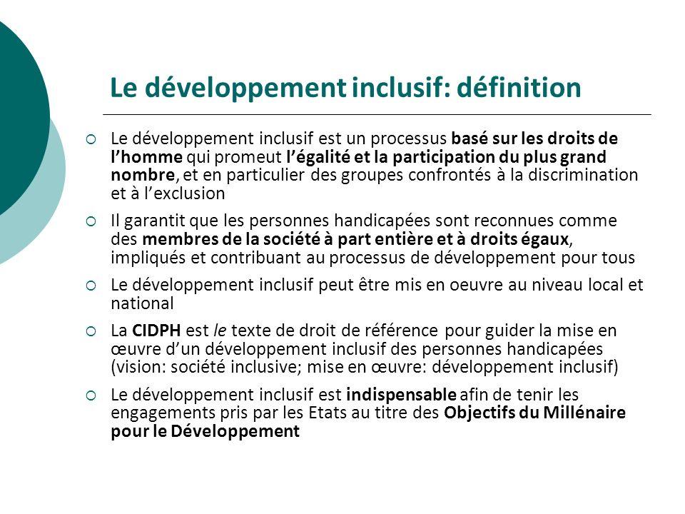Le développement inclusif: définition