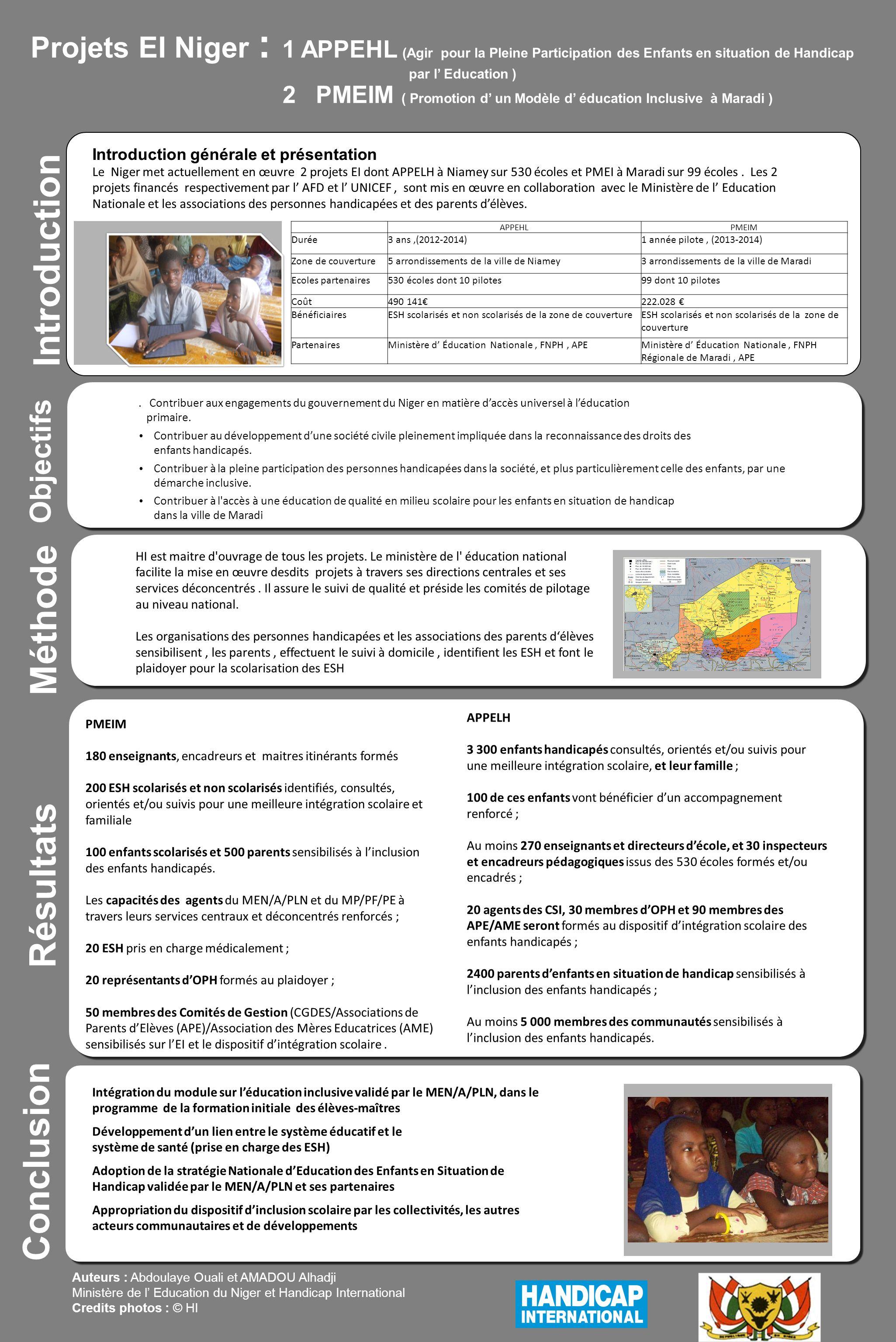 2 PMEIM ( Promotion d' un Modèle d' éducation Inclusive à Maradi )