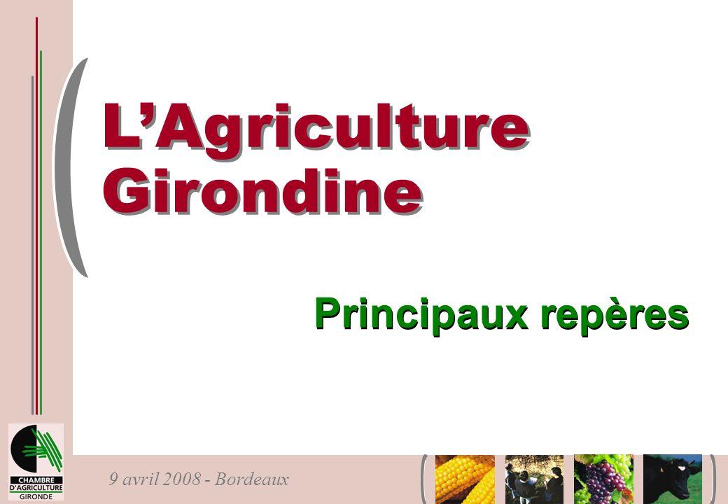 L'Agriculture Girondine Principaux repères