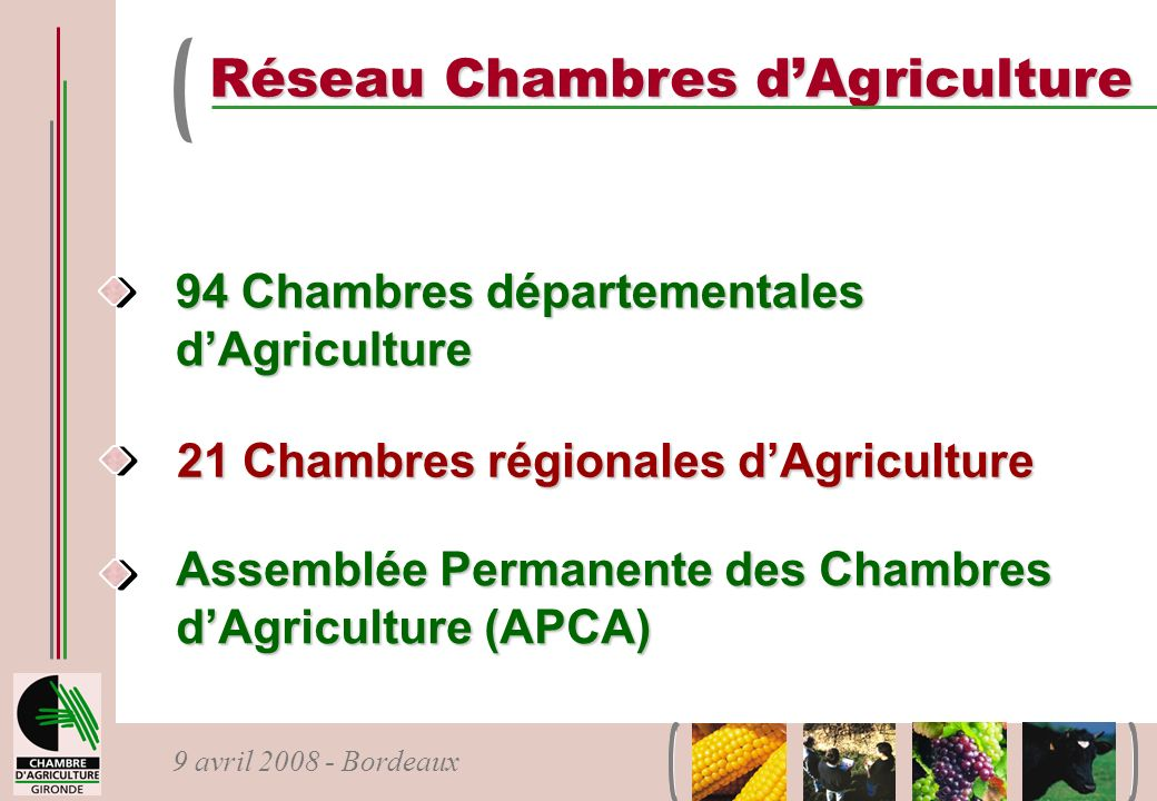 Réseau Chambres d'Agriculture