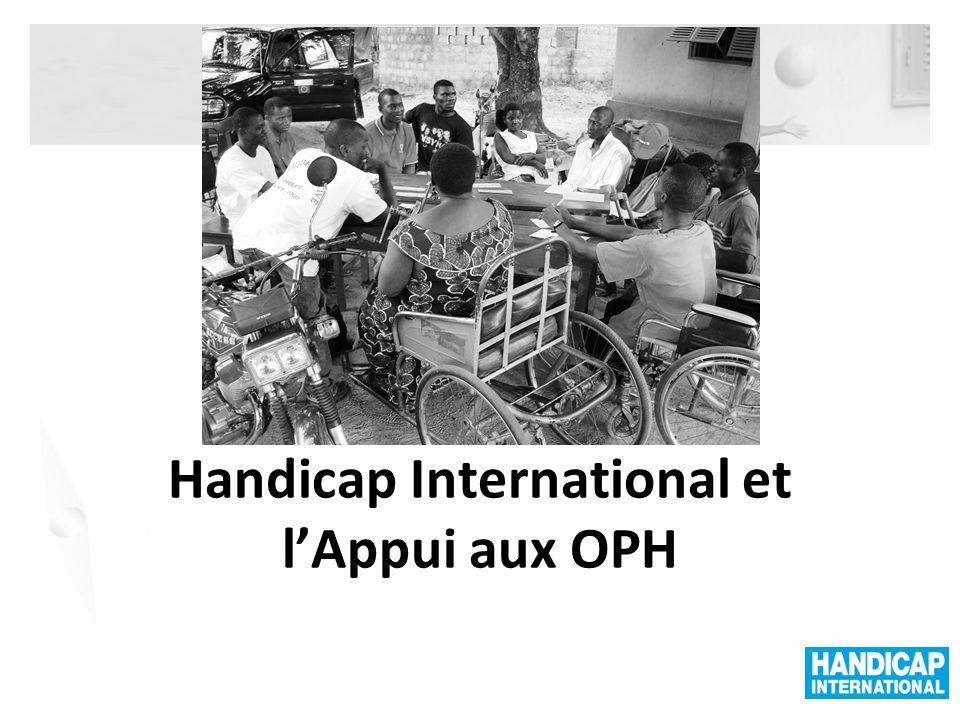Handicap International et l'Appui aux OPH