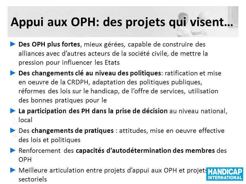 Appui aux OPH: des projets qui visent…
