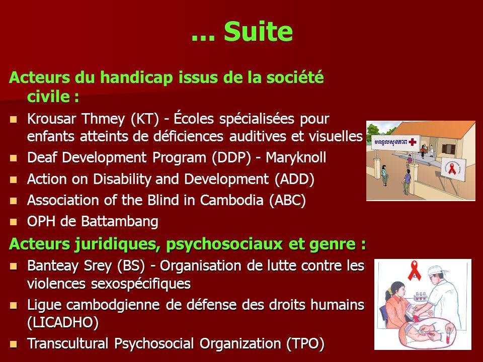 ... Suite Acteurs du handicap issus de la société civile :