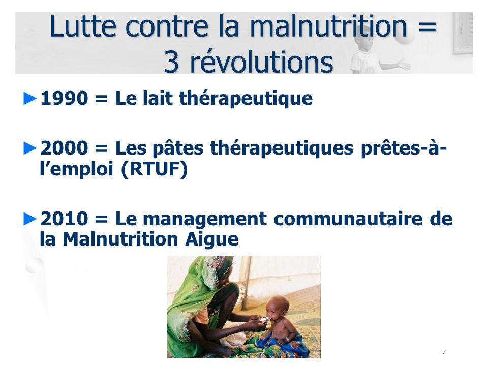 Lutte contre la malnutrition = 3 révolutions