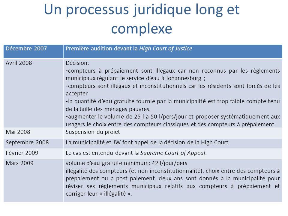Un processus juridique long et complexe