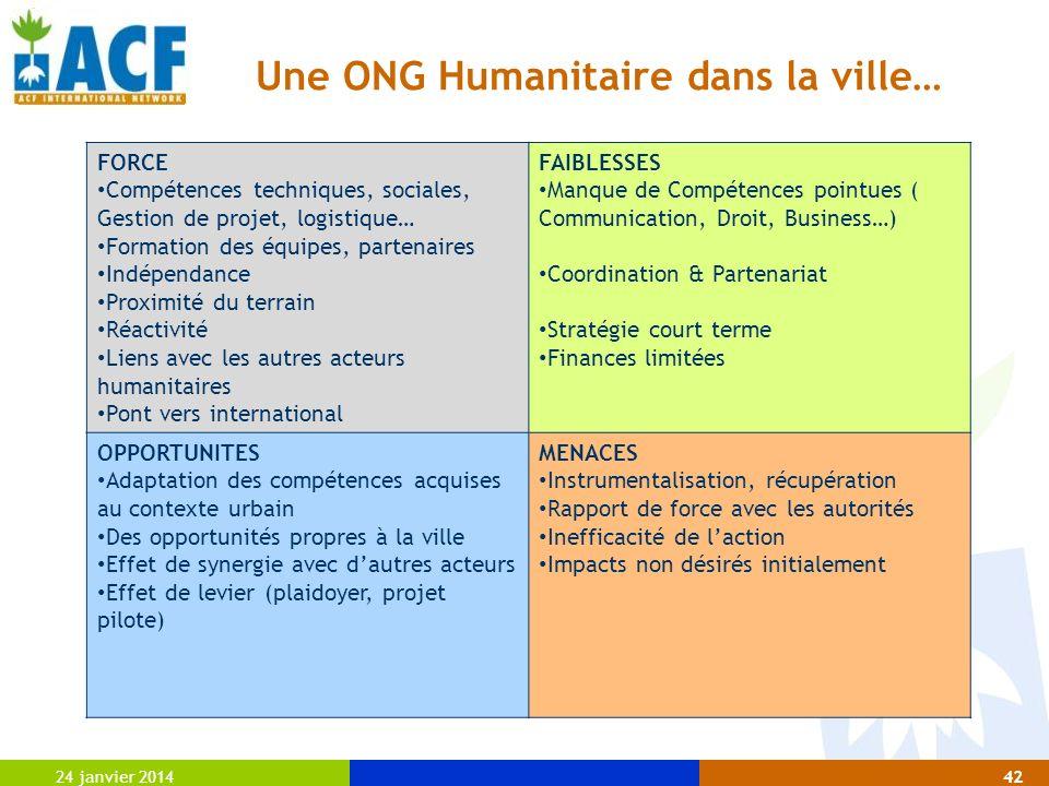 Une ONG Humanitaire dans la ville…
