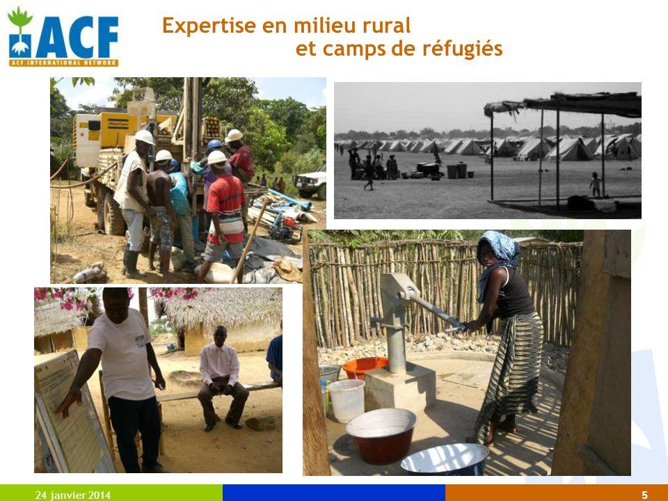 Expertise en milieu rural et camps de réfugiés