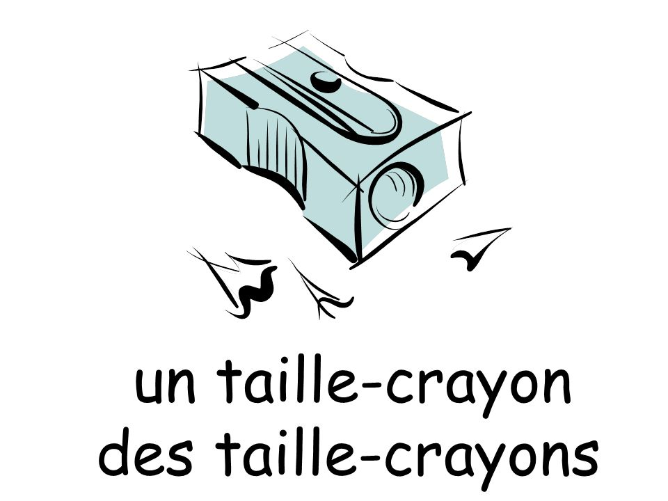 un taille-crayon des taille-crayons