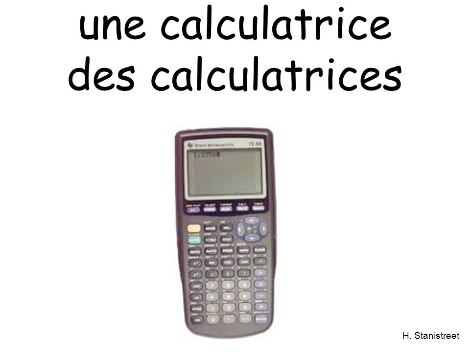 une calculatrice des calculatrices