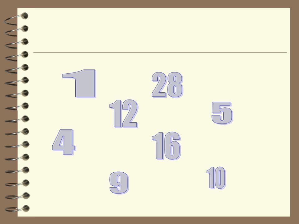 1 28 12 5 4 16 10 9