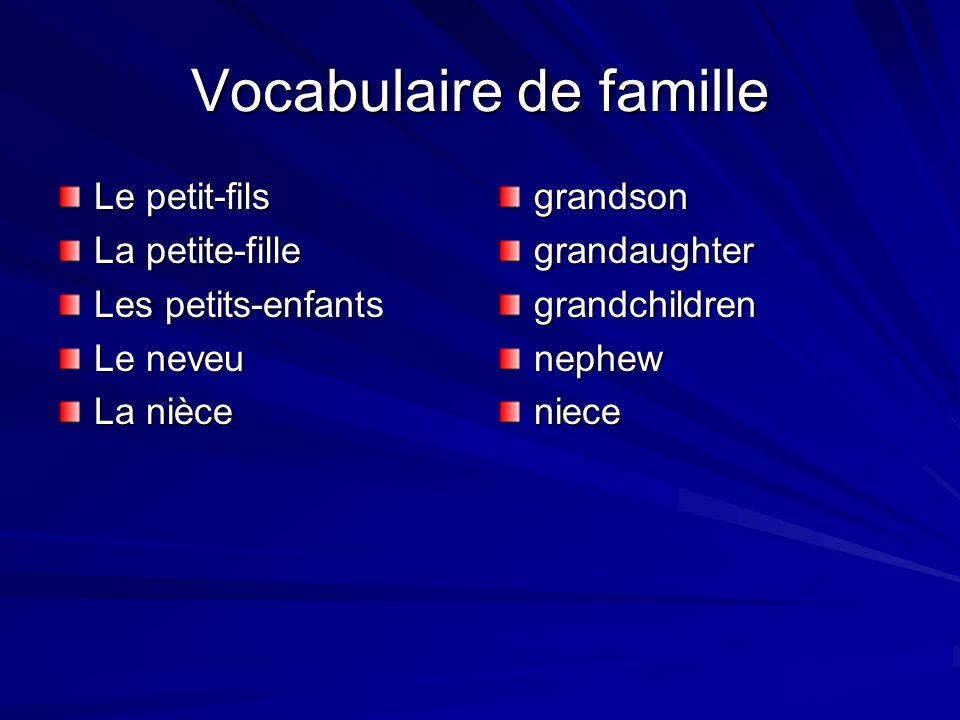 Vocabulaire de famille
