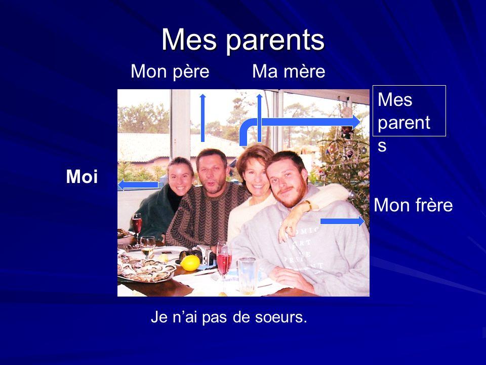 Mes parents Mon père Ma mère Mes parents Mi abuelo Moi Mon frère