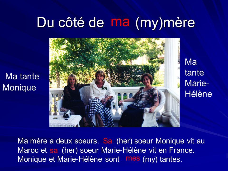 Du côté de (my)mère ma Ma tante Monique Ma tante Marie- Hélène