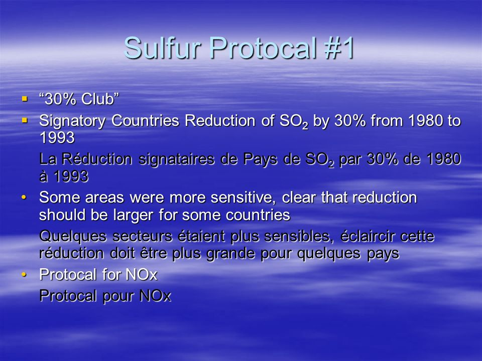 Sulfur Protocal #1 30% Club