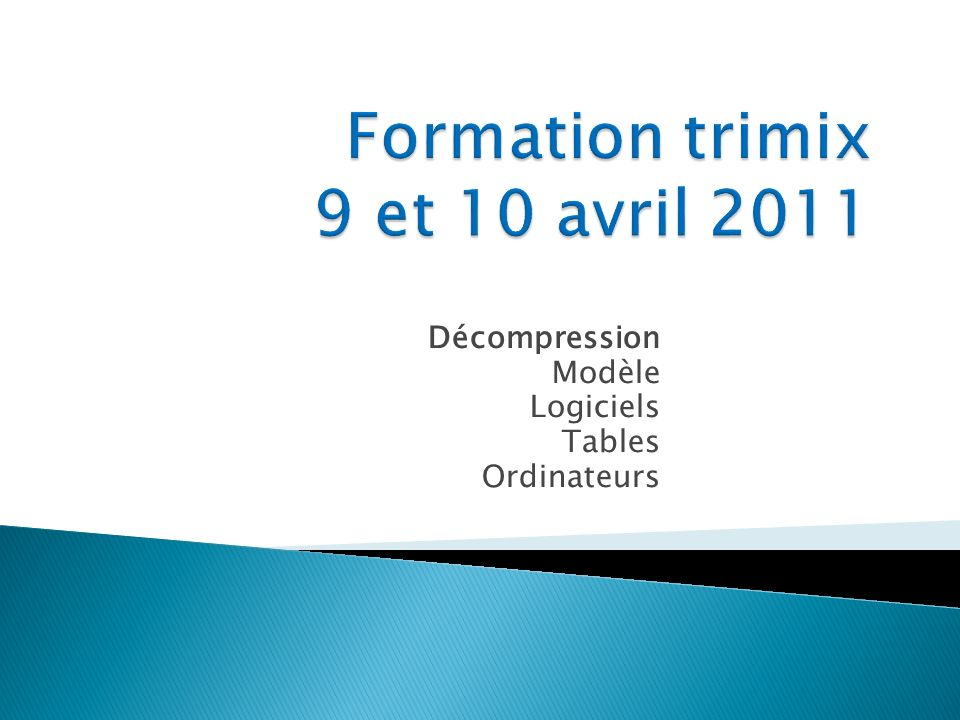 Formation trimix 9 et 10 avril 2011