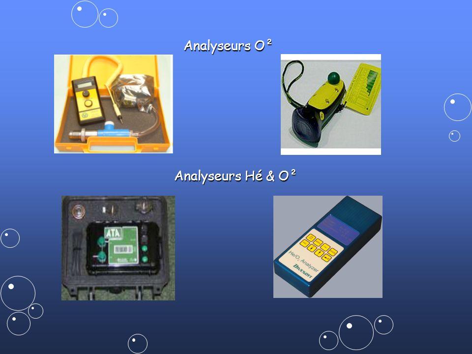 Analyseurs O² Analyseurs Hé & O²