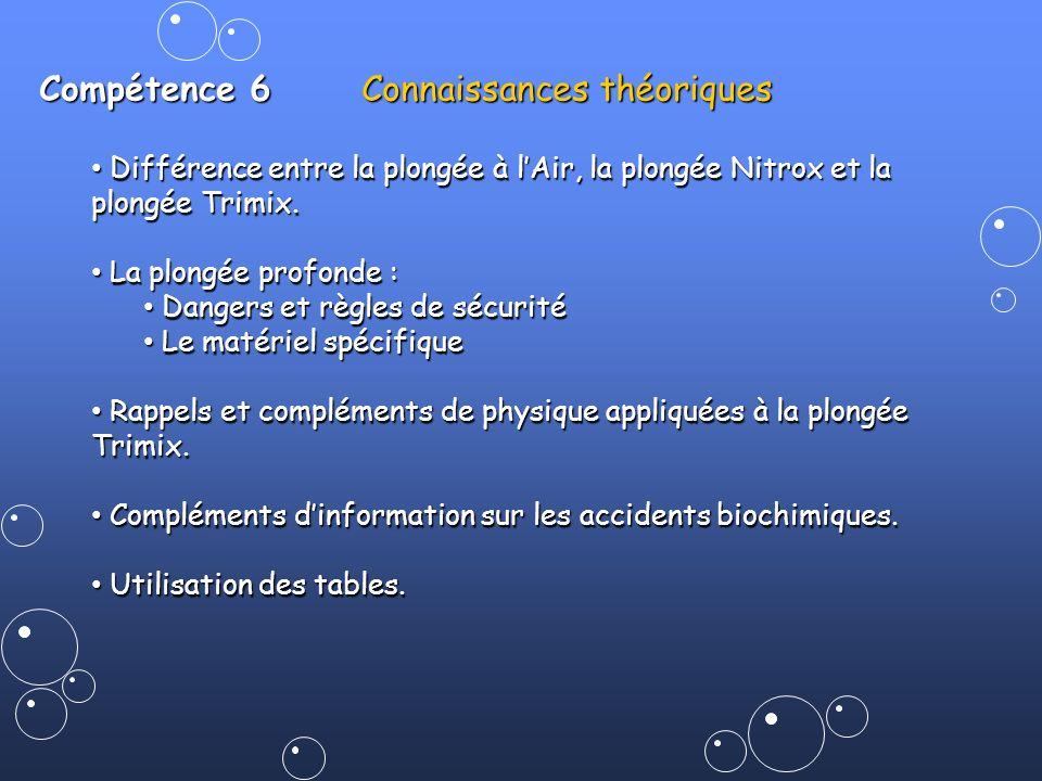 Compétence 6 Connaissances théoriques