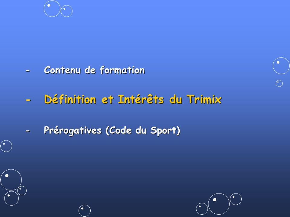 - Définition et Intérêts du Trimix