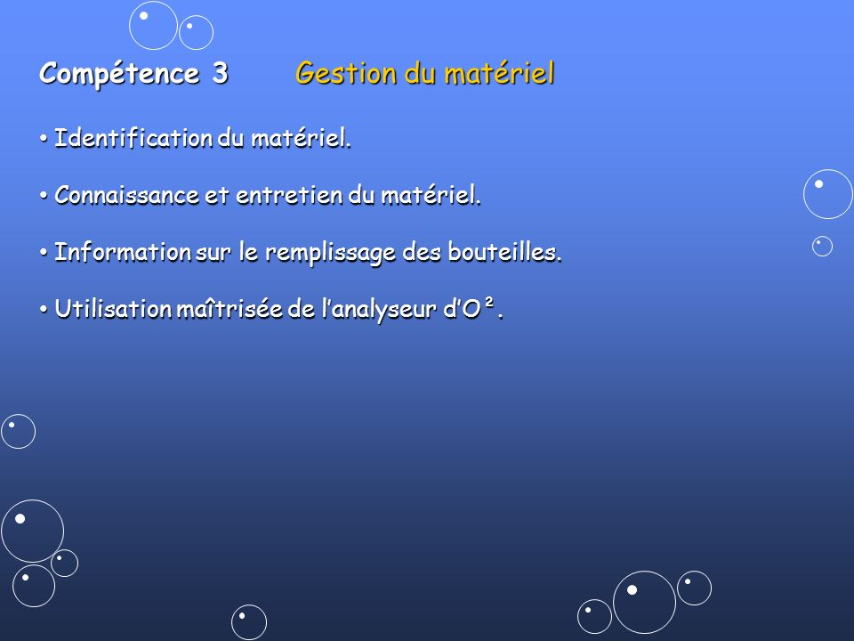 Compétence 3 Gestion du matériel