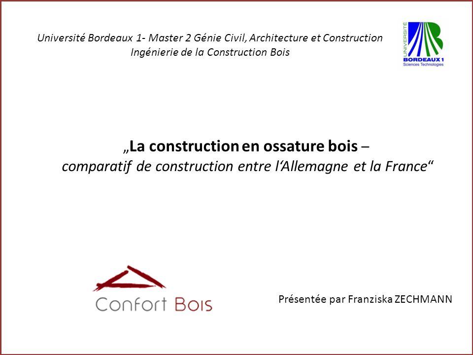 """""""La construction en ossature bois –"""