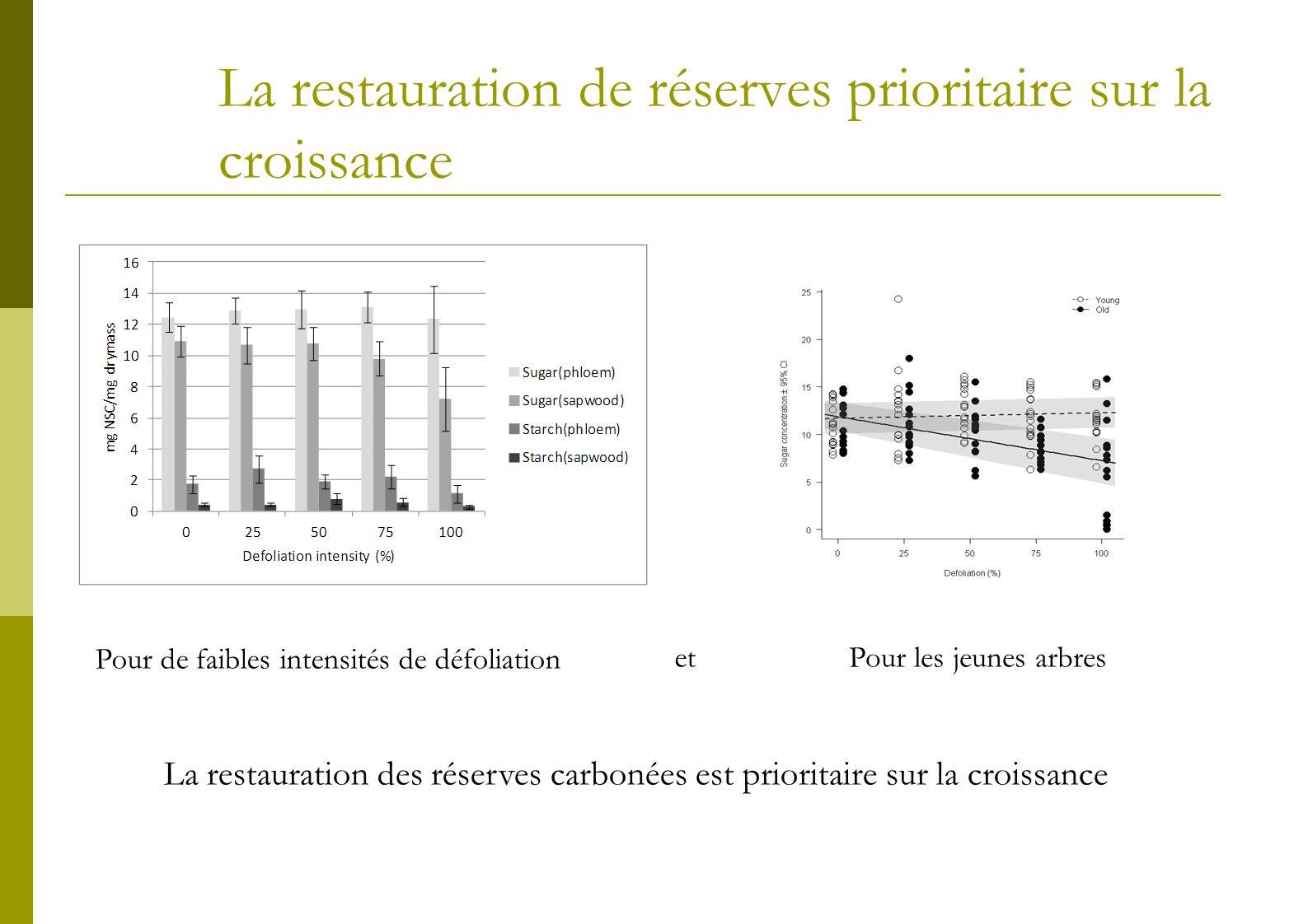 La restauration de réserves prioritaire sur la croissance