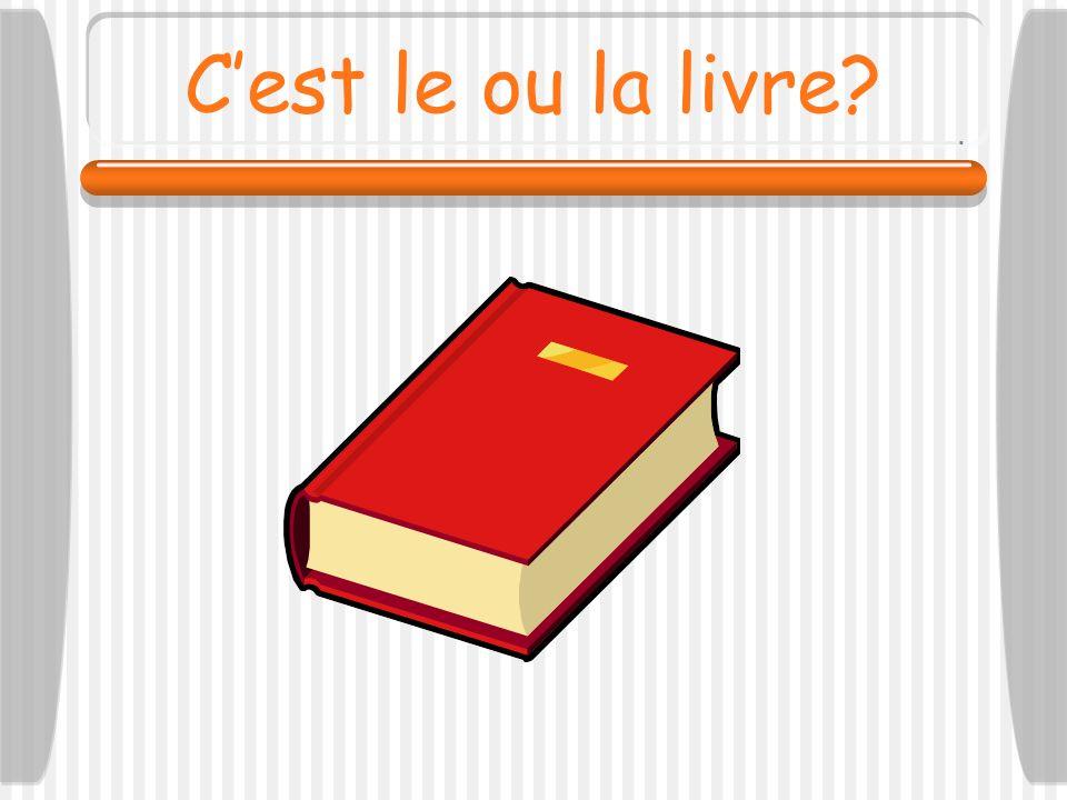 C'est le ou la livre