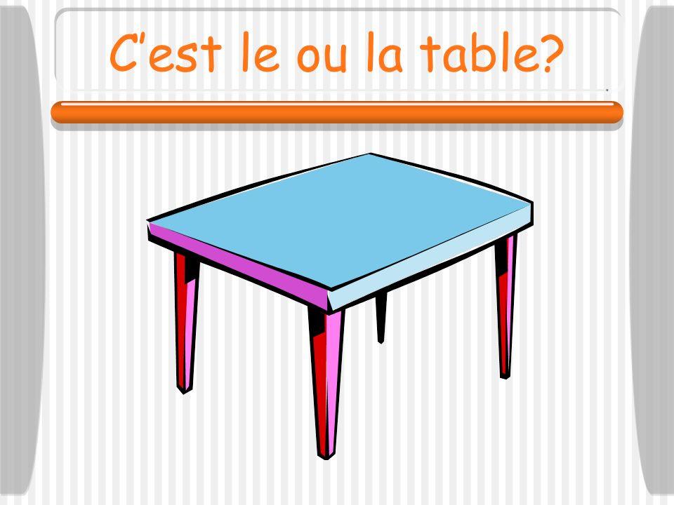 C'est le ou la table