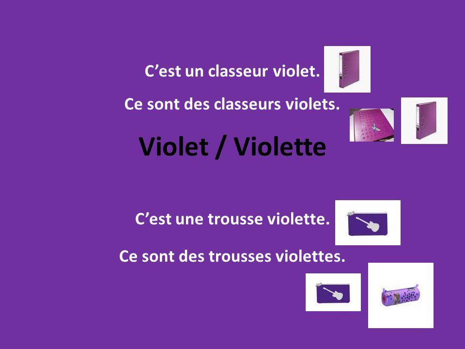 C'est une trousse violette. Ce sont des trousses violettes.
