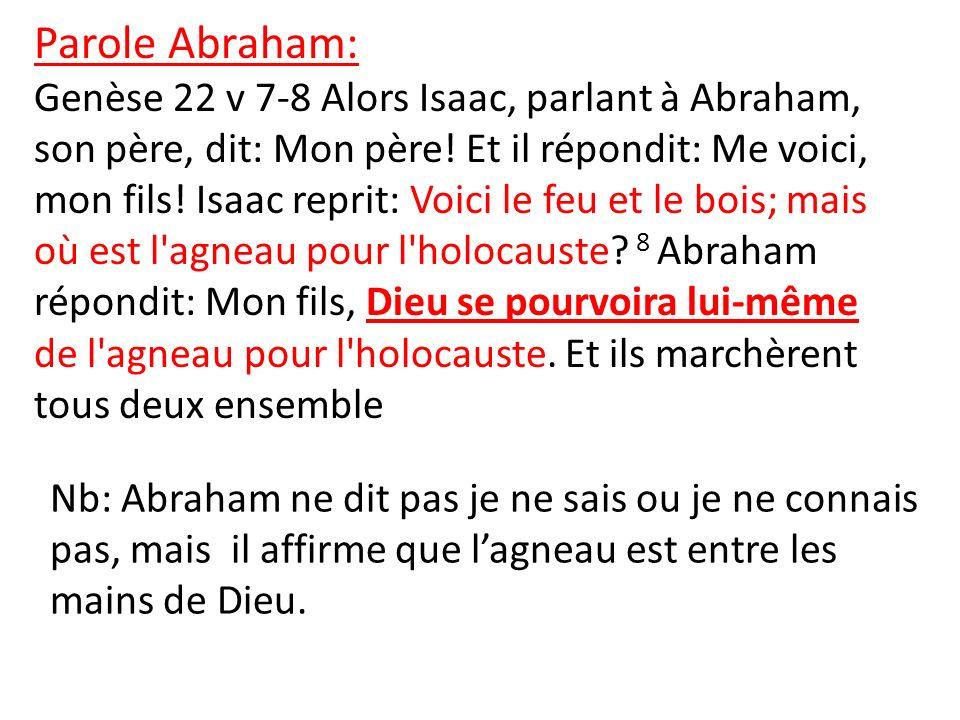 Parole Abraham: