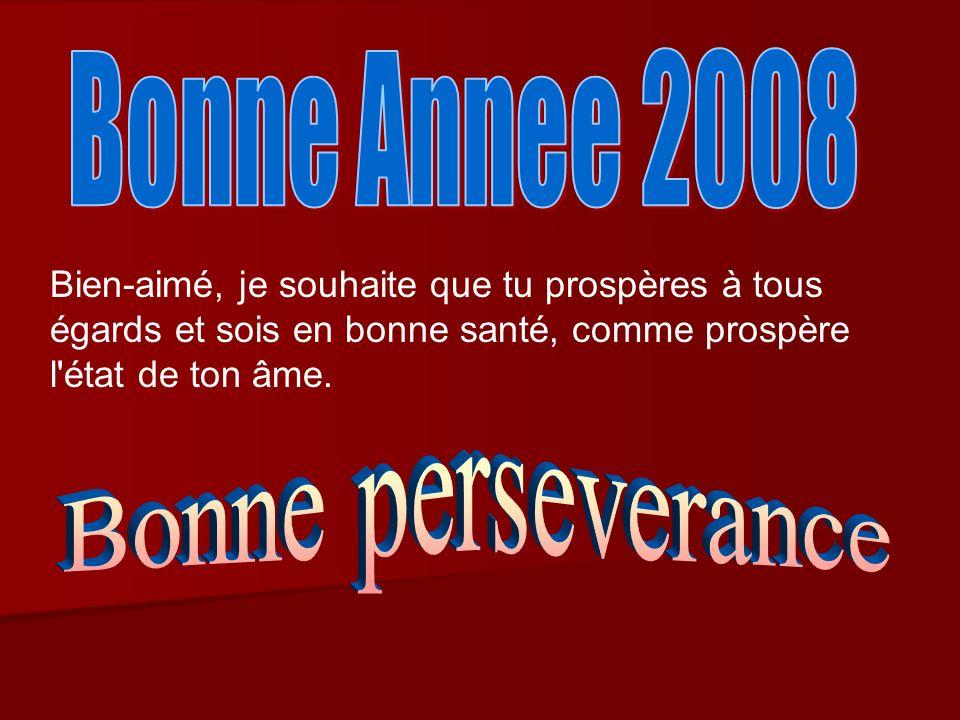 Bonne Annee 2008 Bonne perseverance