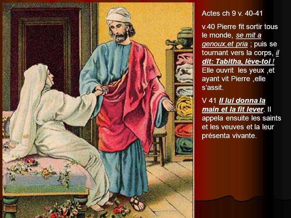 Actes ch 9 v. 40-41