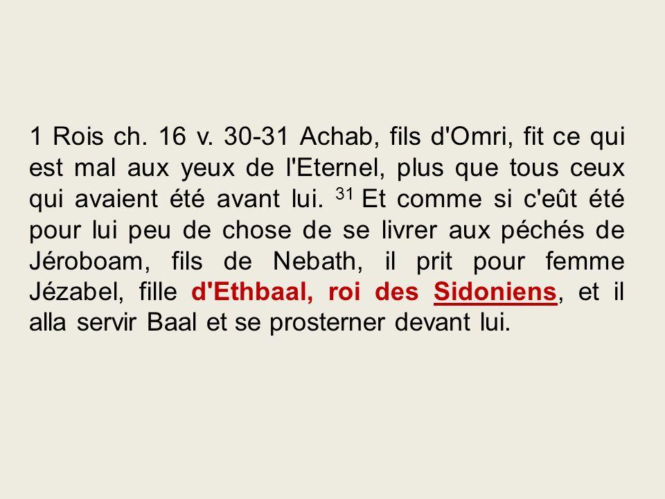 1 Rois ch. 16 v.