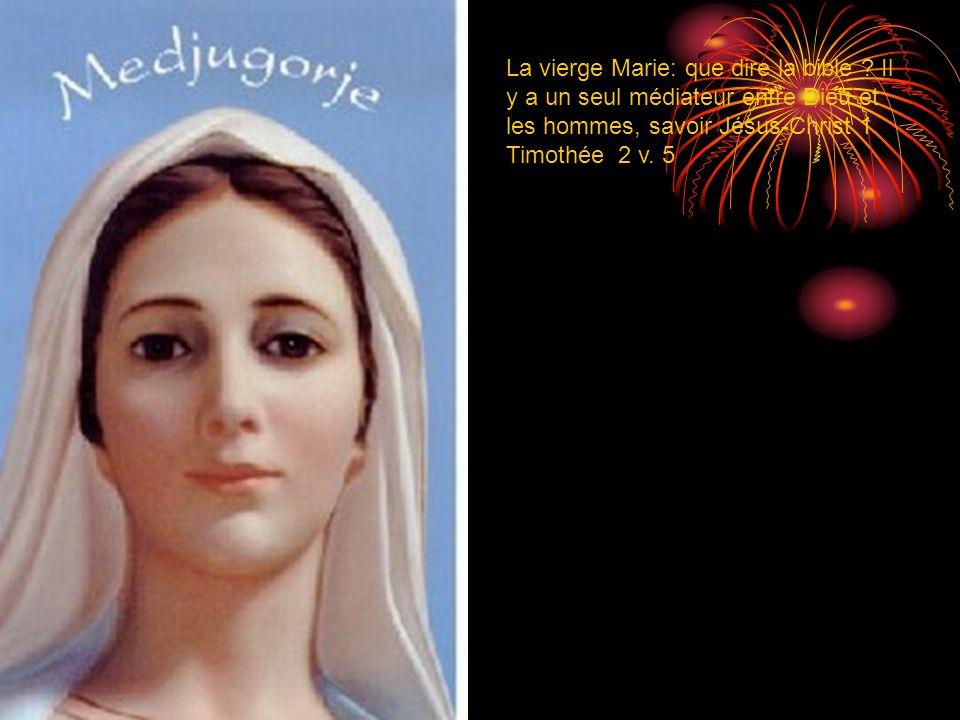 La vierge Marie: que dire la bible