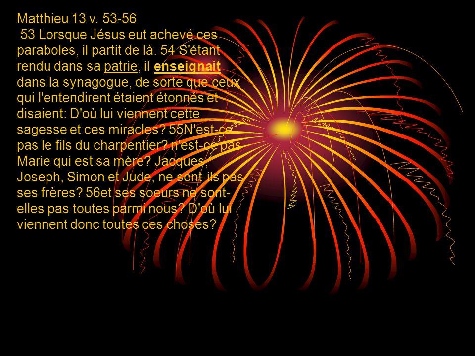 Matthieu 13 v. 53-56