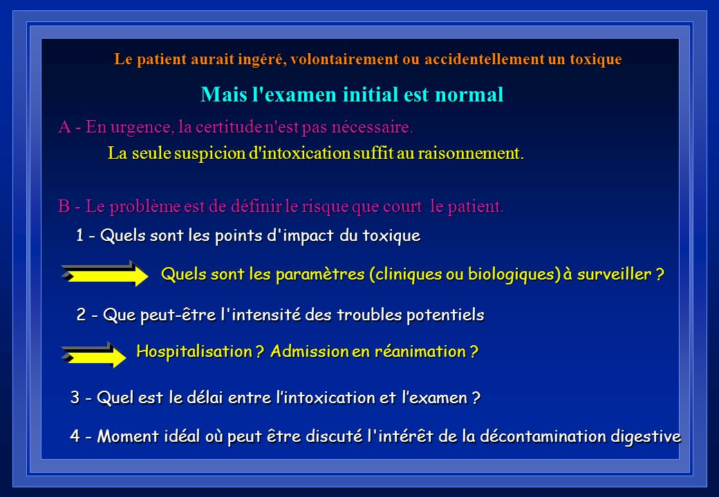 Mais l examen initial est normal