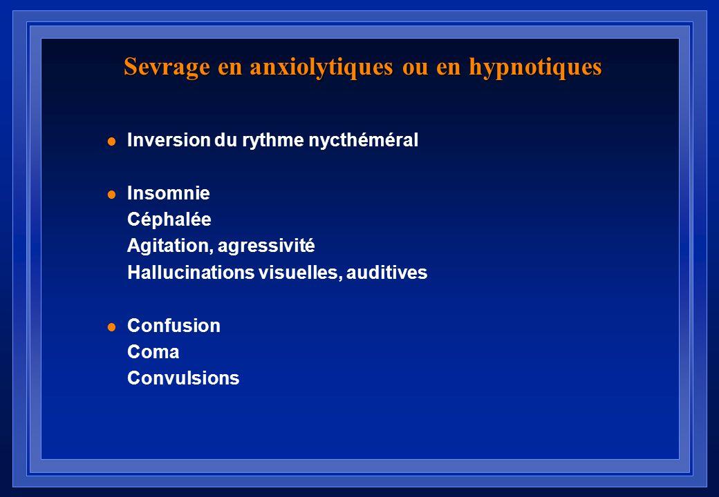 Sevrage en anxiolytiques ou en hypnotiques