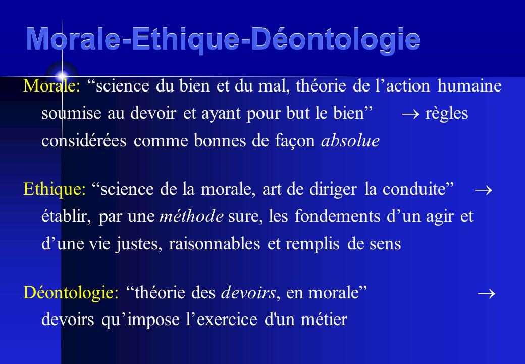 Morale-Ethique-Déontologie