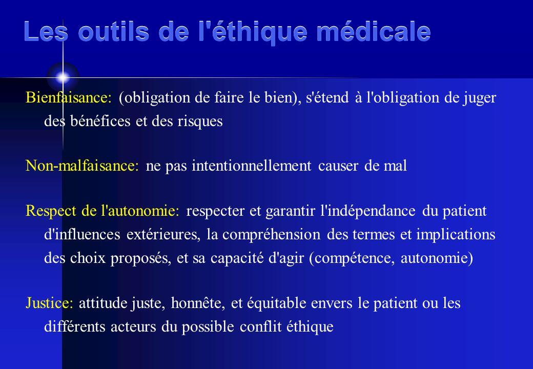 Les outils de l éthique médicale