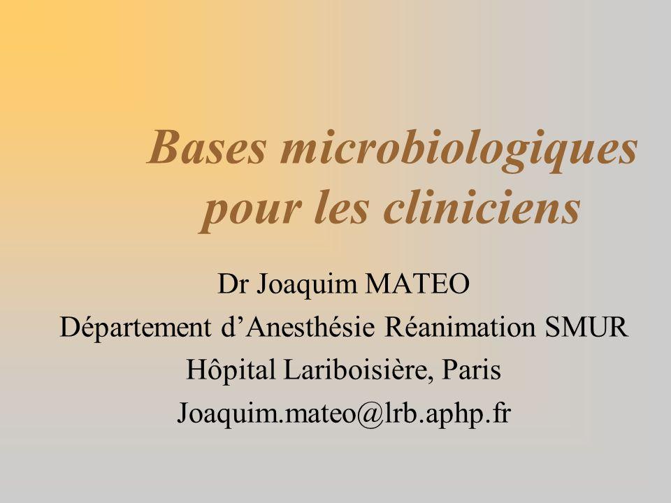 Bases microbiologiques pour les cliniciens